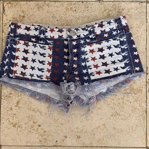 FREE PEOPLE denim short shorts size 24